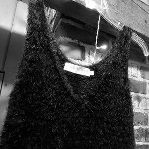 """Furry"" black dress"